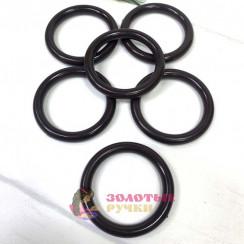 Кольца для штор d-38мм 50шт, цвет темно коричневый