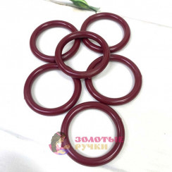Кольца для штор d-38мм 50шт, цвет черешня