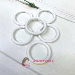 Кольца для штор d-38мм 50шт, цвет белый