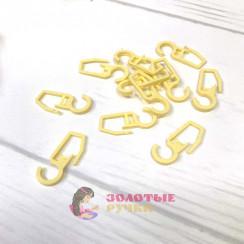 Крючки для штор, на кольцо 100шт, цвет желтый