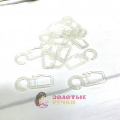 Крючки для штор на кольцо 100шт, цвет прозрачный