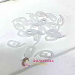 """Крючки для штор """"Улитка"""" 100шт, цвет белый"""
