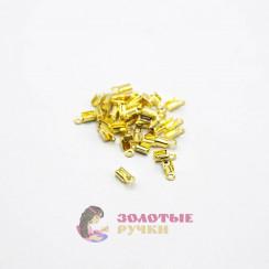 Наконечник ювелирный цвет золото в упаковке 50шт