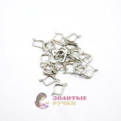 Серьги французский цвет серебро в упаковке 10 пар