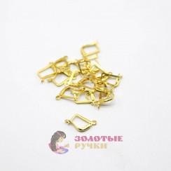 Серьги французский цвет золото в упаковке 10 пар