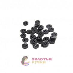 Пуговица чёрная простая, 0,8мм в упаковке 200 шт