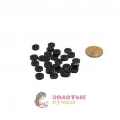 Пуговица чёрная простая, 0,5мм в упаковке 200 шт