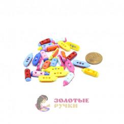 Пуговицы детские карандаш в упаковке 100шт