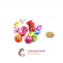 Пуговицы детские цветочки в упаковке 100 шт