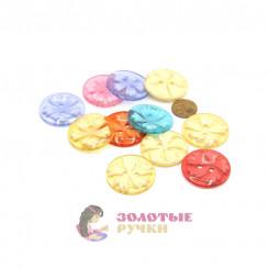 Пуговицы детские цветочки большие в упаковке 50 шт