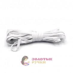 Резинка вздёжка 0,7мм белая, намотка 10 метров в упаковке 20шт