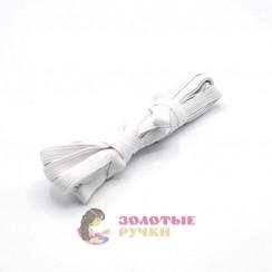 Резинка вздёжка 1см белая, намотка 5 метров в упаковке 20шт