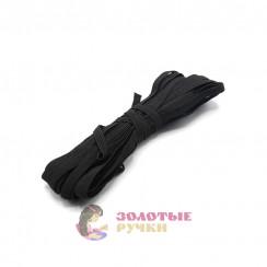 Резинка вздёжка 0,7мм чёрная, намотка 10 метров в упаковке 20шт