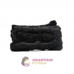Резинка вздёжка 1 см чёрная, намотка 10 метров в упаковке 10шт