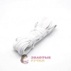 Резинка вздёжка 1см белая намотке 10 метров в упаковке 10шт