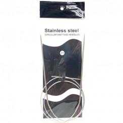 Спицы для вязания круговые металлические  на тросике 80см 2,5 мм