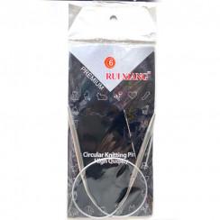 Спицы для вязания круговые металлические  на тросике 40см 6,0 мм
