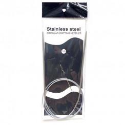 Спицы для вязания круговые металлические  на тросике 80см 3,0 мм