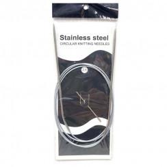 Спицы для вязания круговые металлические  на тросике 120см 2,5 мм