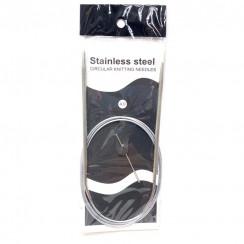 Спицы для вязания круговые металлические  на тросике 120см 4,0 мм