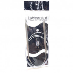 Спицы для вязания круговые металлические  на тросике 120см 6,5 мм