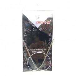 Спицы для вязания круговые металлические  на тросике 40см 3,5 мм