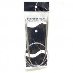 Спицы для вязания круговые металлические  на тросике 80см 6,5 мм