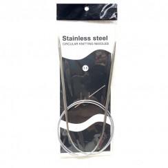 Спицы для вязания круговые металлические  на тросике 80см 3,5 мм