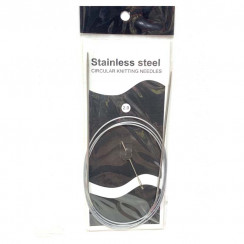 Спицы для вязания круговые металлические  на тросике 120см 2,0 мм