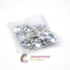 Стразы клеевые круглые 10мм (упаковка - 200шт) цвет АВ хамелеон
