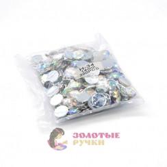 Стразы клеевые круглые 14мм (упаковка - 200шт) цвет АВ хамелеон