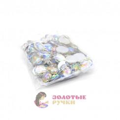 Стразы клеевые круглые 18мм (упаковка - 100шт) цвет АВ хамелеон