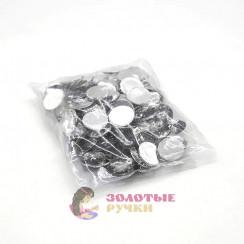 Стразы клеевые круглые 16мм (упаковка - 100шт) цвет стекло