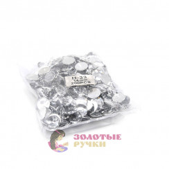 Стразы клеевые круглые 14мм (упаковка - 200шт) цвет стекло