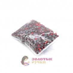 Стразы клеевые стекло SS 16 (упаковка - 1440шт) цвет красный