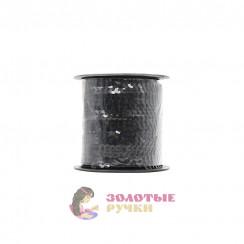 Тесьма пайетки на бабине, диаметр 6 мм в бобине 100 ярдов цвет черный