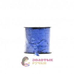 Тесьма пайетки на бабине, диаметр 6 мм в бобине 100 ярдов цвет василек