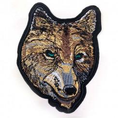 """Термоаппликации для одежды """"Волк"""" размер 7*8см в уп 20шт. цена за уп"""