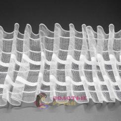 Тесьма шторная шир 80 мм прозрачная равномерная (50 метров)