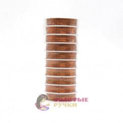 Проволока для бисероплетения (уп. 50 м), диаметр 0,3 мм - цвет бронзовый