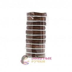 Проволока для бисероплетения (уп. 50 м), диаметр 0,3 мм - цвет коричневый