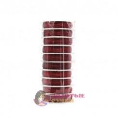 Проволока для бисероплетения (уп. 50 м), диаметр 0,3 мм - цвет красный