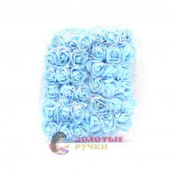 Цветочки из фоамирана 3 см в упаковке 72 шт цвет голубой