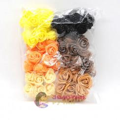 Цветочки из фоамирана 3 см в упаковке 72 шт цвет ассорти