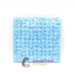 Цветочки из фоамирана 2 см в упаковке 144 шт цвет голубой