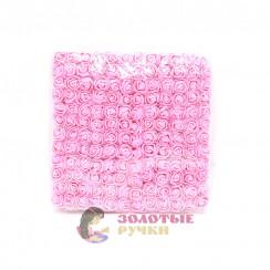 Цветочки из фоамирана 2 см в упаковке 144 шт цвет розовый