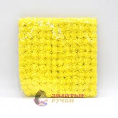 Цветочки из фоамирана 2 см в упаковке 144 шт цвет желтый