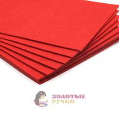 Фетр размер 20х30 толщина 2мм цвет красный