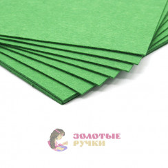 Фетр размер 20х30 толщина 2мм цвет зеленый