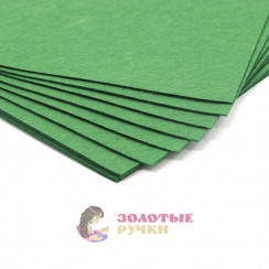 Фетр размер 20х30 толщина 1мм цвет зеленый